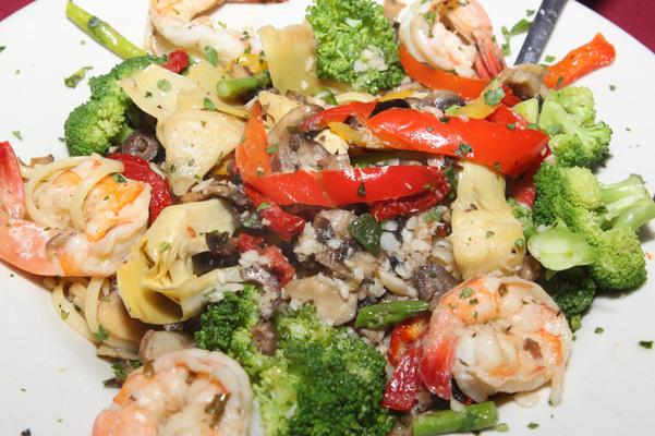 Shrimp Primavera at Benedetto's