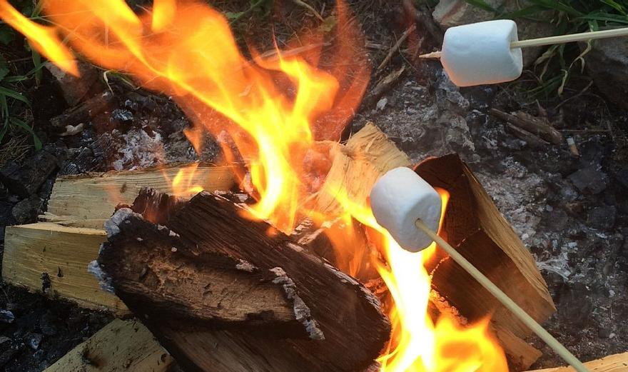 cooking marshmallows outdoors