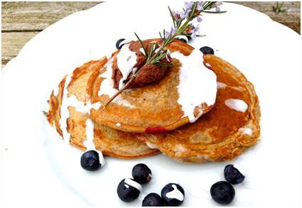 Kaffir lime pancake