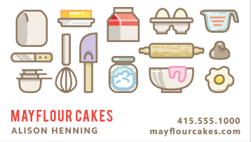 Cute Bakery Pictures on a Simple Background