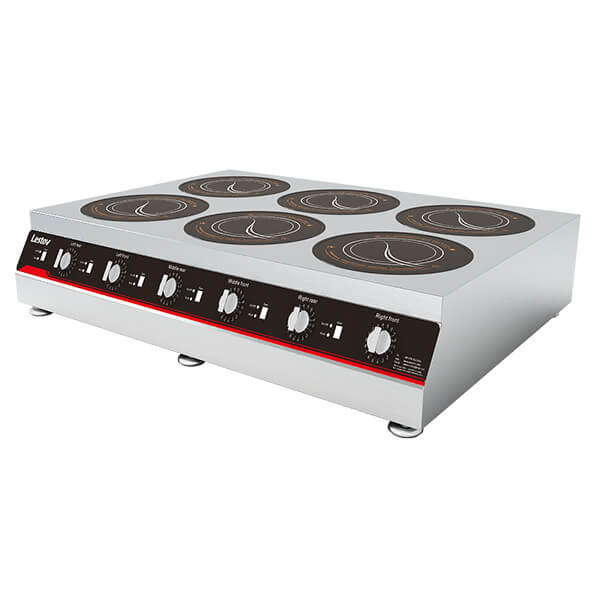countertop induction cooker six burner