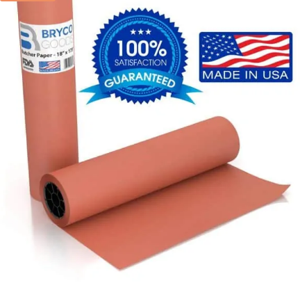 Pink Butcher paper roll
